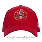 hats-made in America, hat-air force one-presidents-president-donald-j-trump-seal of the president-100% made in USA-POTUS -embroidery-official-white-house-gift-shop-presidents-gifts-collection