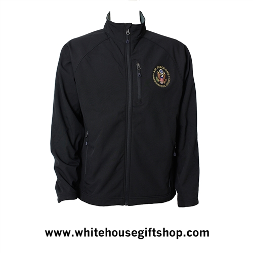 Jacket, Air Force One Presidential Guest, Soft Shell Black Fleece lined mid weight