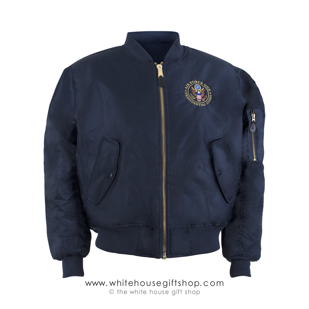 Air Force One President s Guest MA-1 Navy Blue Bomber Style Flight ... a647e2760b