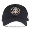 Air Force One Presidential Guest Hat, Hats Made in the USA, Cap, Caps with American flag on side, black, structured cotton, USAF, Embroidered ,Great Seal of the United States, Military gifts, White House Official gift shop, authentic President gifts