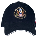 Air Force One Presidential Guest Hat. Cap, MADE IN America, Embroidered Navy Cotton