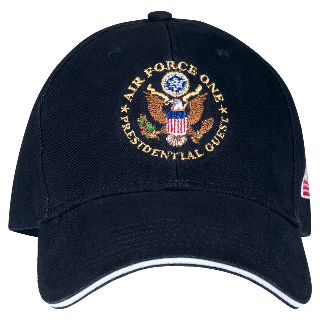 6fa4032c99f6c2 Air Force One Presidential Guest Hat. Cap, MADE IN America, Embroidered Navy  Cotton