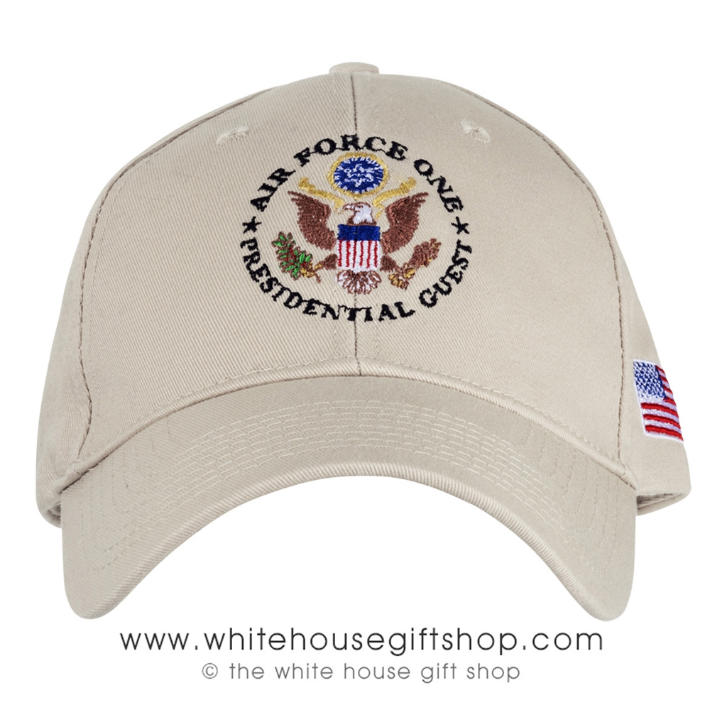 USA made 100% cotton Air Force One Presidential Guest and Seal hat ... c59b58bb595