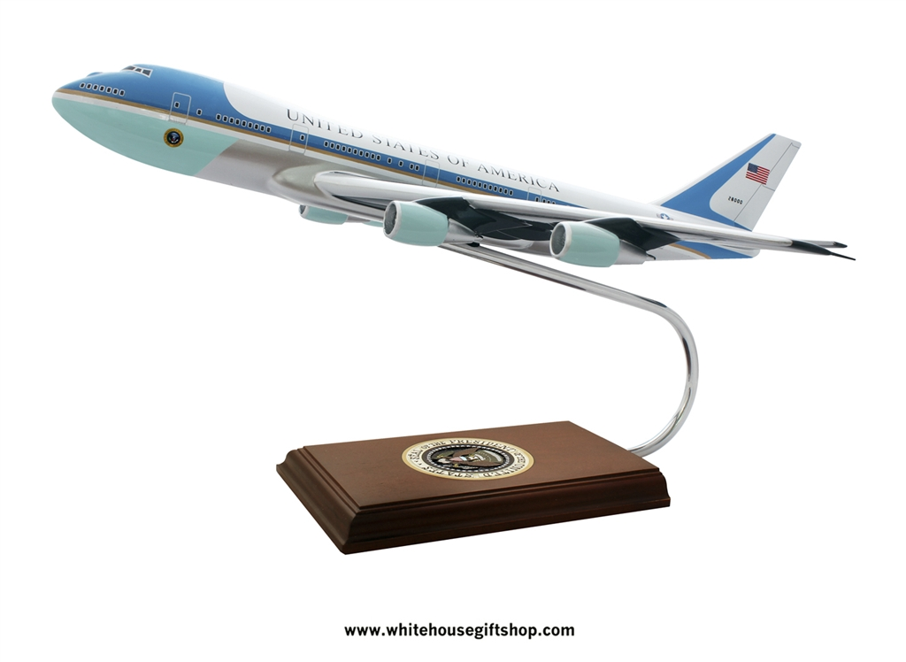 This Hand Carved Mahogany Wood President Obama Air Force One Plane