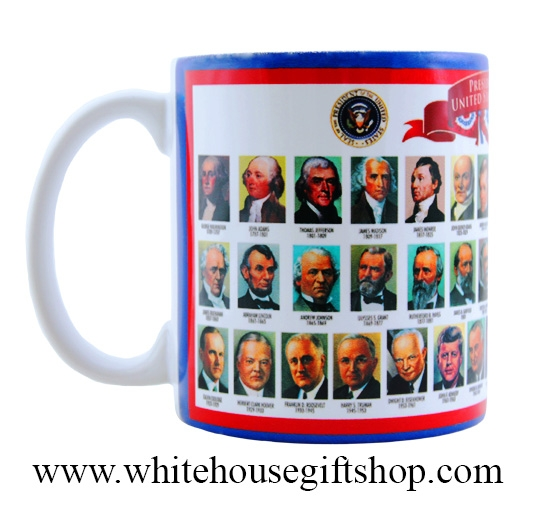 Presidents of the united states mug features the for Presidents and their home states