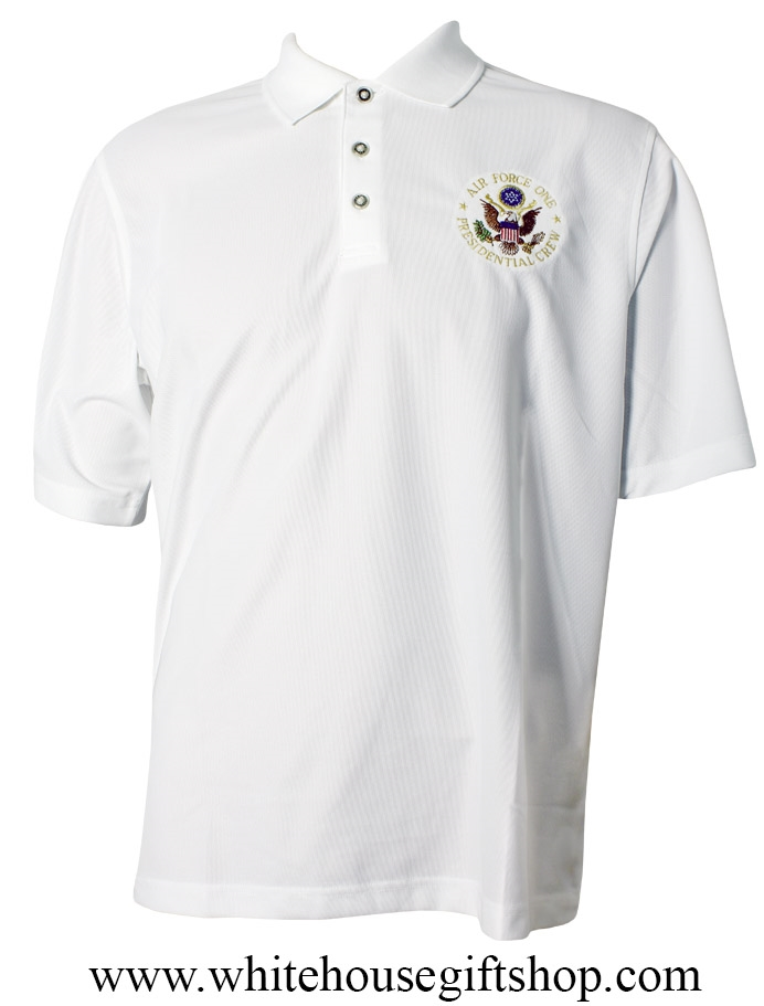 Pebble Beach Polo >> Golf Shirt Air Force One Presidential Crew Huge Sale S And Med Sizes Pebble Beach Polo Golf U S Seal Embroidered Three Button Pearl Placket