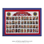 All President Magnets, Made in the USA, all 45 Presidents portraits including Trump and Obama, quality 2 1/2 by 3 1/2 inches from original official  White House Gift Shop since 1946 by President Truman, Washington, D.C.