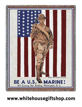Be A Marine Throw Blanket
