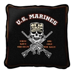 US Marines, Military Pillow, Made in USA Quality Cotton, Dry Clean Only
