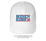 Joseph R. Biden and Kamala Harris 2020 Hat in White, 44th President of the United States, 46th President of the United States, Official White House Gift Shop Est. 1946 by Secret Service Agents