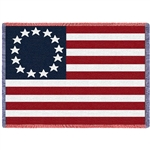 American Betsy Ross Flag Blanket Throw, 69 by 48 inches, 100%  Machine Wash and Dry,  Made in the USA