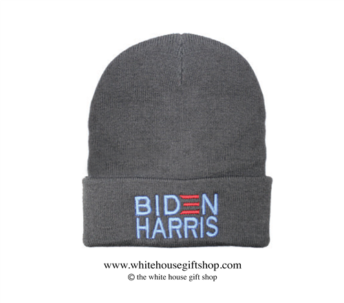 Joseph R. Biden Beanie in Dark Grey, 46th President of the United States, Official White House Gift Shop Est. 1946 by Secret Service Agents