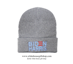 Joseph R. Biden Beanie in Light Grey, 46th President of the United States, Official White House Gift Shop Est. 1946 by Secret Service Agents