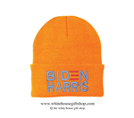 Joseph R. Biden Beanie in Orange, 46th President of the United States, Official White House Gift Shop Est. 1946 by Secret Service Agents