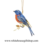 Blue Bird Ornament, Summer Sale,  24KT Gold Plated, White House Gift Shop, Made in USA!  LIMITED EDITION.