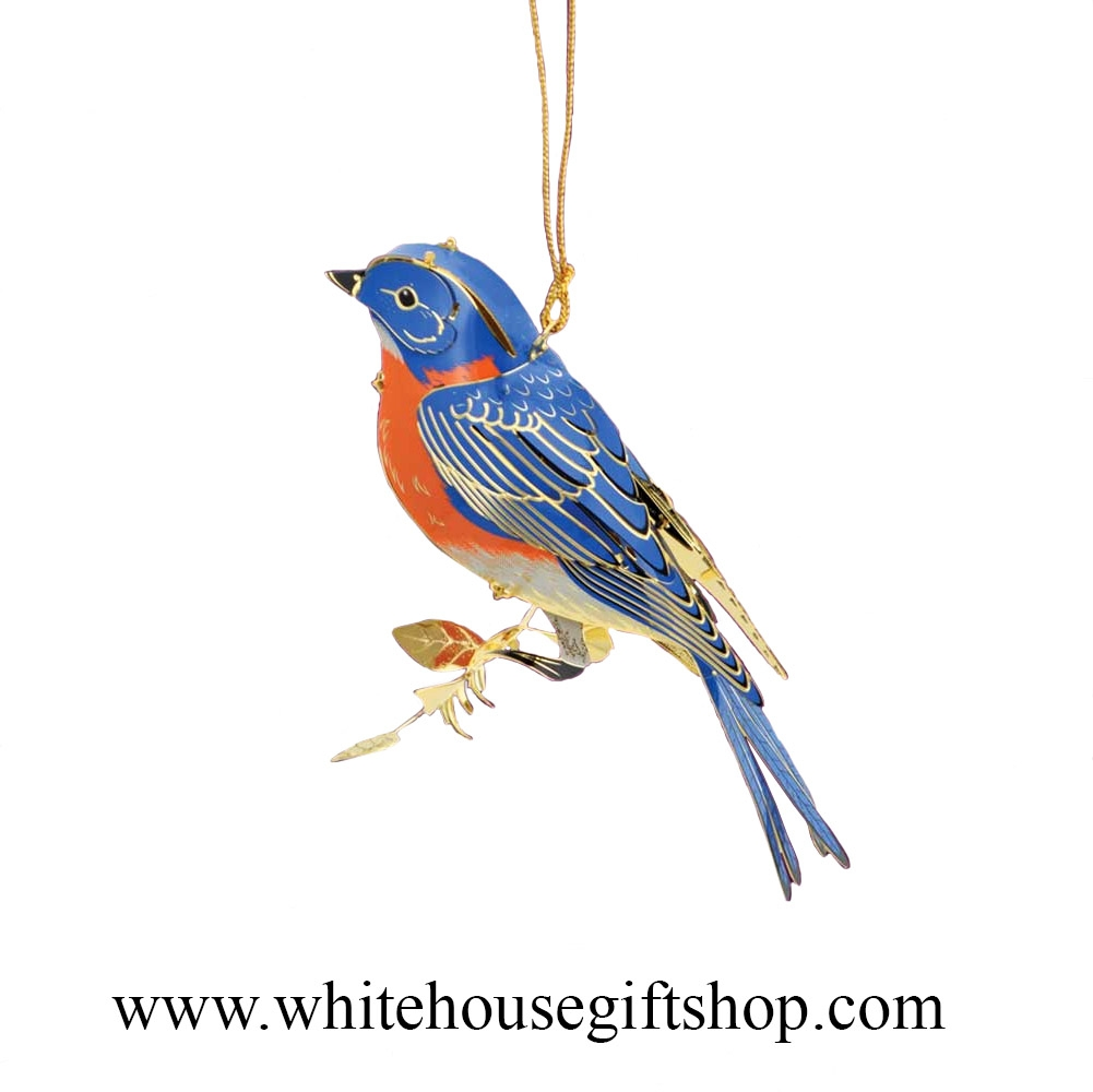 c5bd7db7 Blue Bird Ornament, Summer Sale, 24KT Gold Plated, White House ...