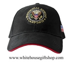 Black with Red Trim Camp David Hat
