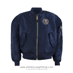 Camp David Presidential Retreat Flight Jacket, Navy Blue