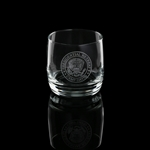 Camp David White House Presidential Retreat etched glasses, 1-.5 ounce glass, on the rocks, made in USA, custom President style gifts from White House Gift Shop, since 1946