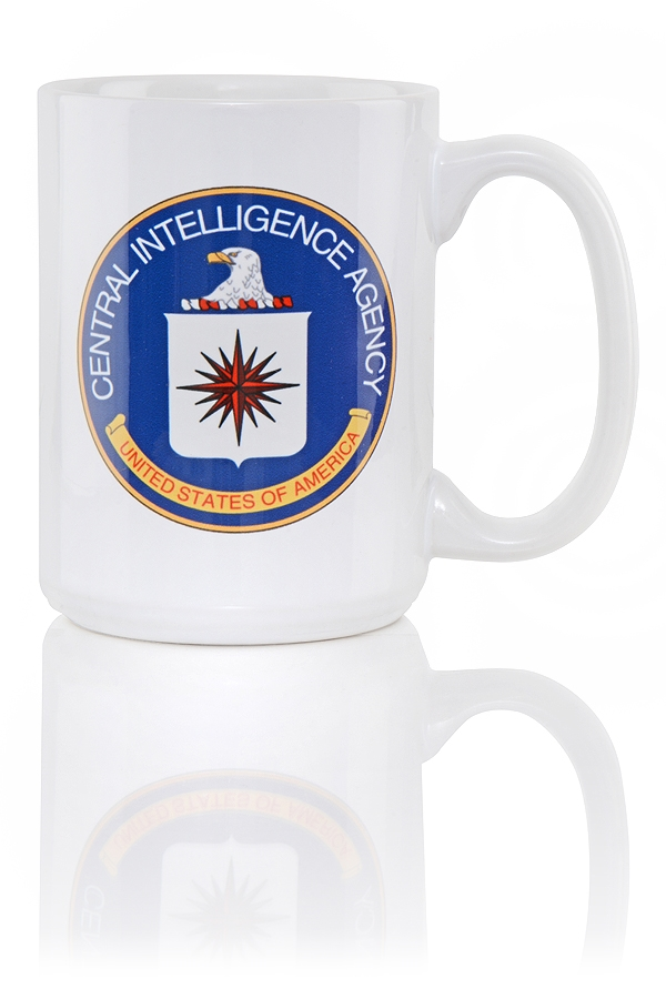 Cia Coffee Mug Langley Item Slogan And The Truth Shall Set You Free On Back Of