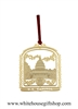 Ornaments, The Capitol Building, Completely Finished in 24KT Gold on Brass, Perfect for Large Group Gifts, Quality Presentation and Affordability, 100% Handmade in the USA!  Holiday Red Windowpane Gift Box with White House Gift Shop Gold Seal on Reverse