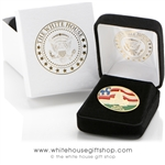 United States Capitol Building Visitor Style Lapel Pin, Perfectly Baked Enamels with Protective Finish on Brass