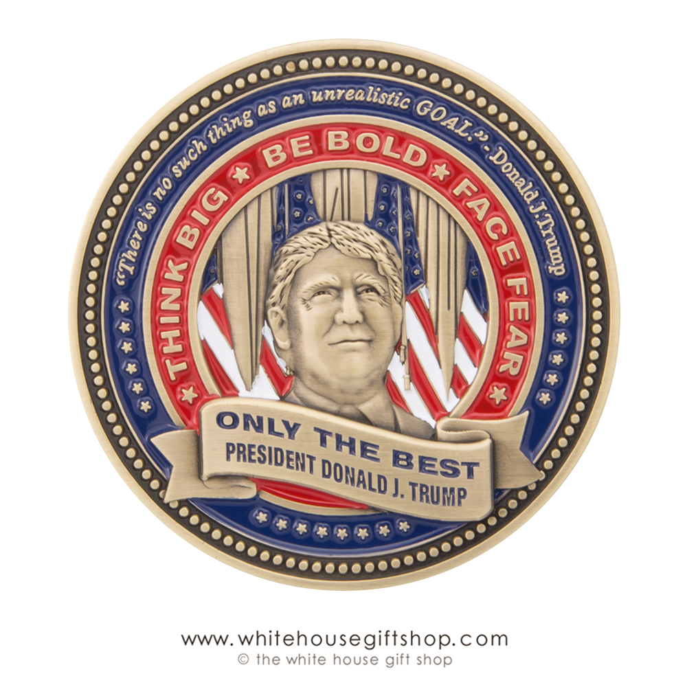 7 Coin, BE BOLD, FACE FEAR, THINK BIG, DONALD TRUMP, LIMITED ...