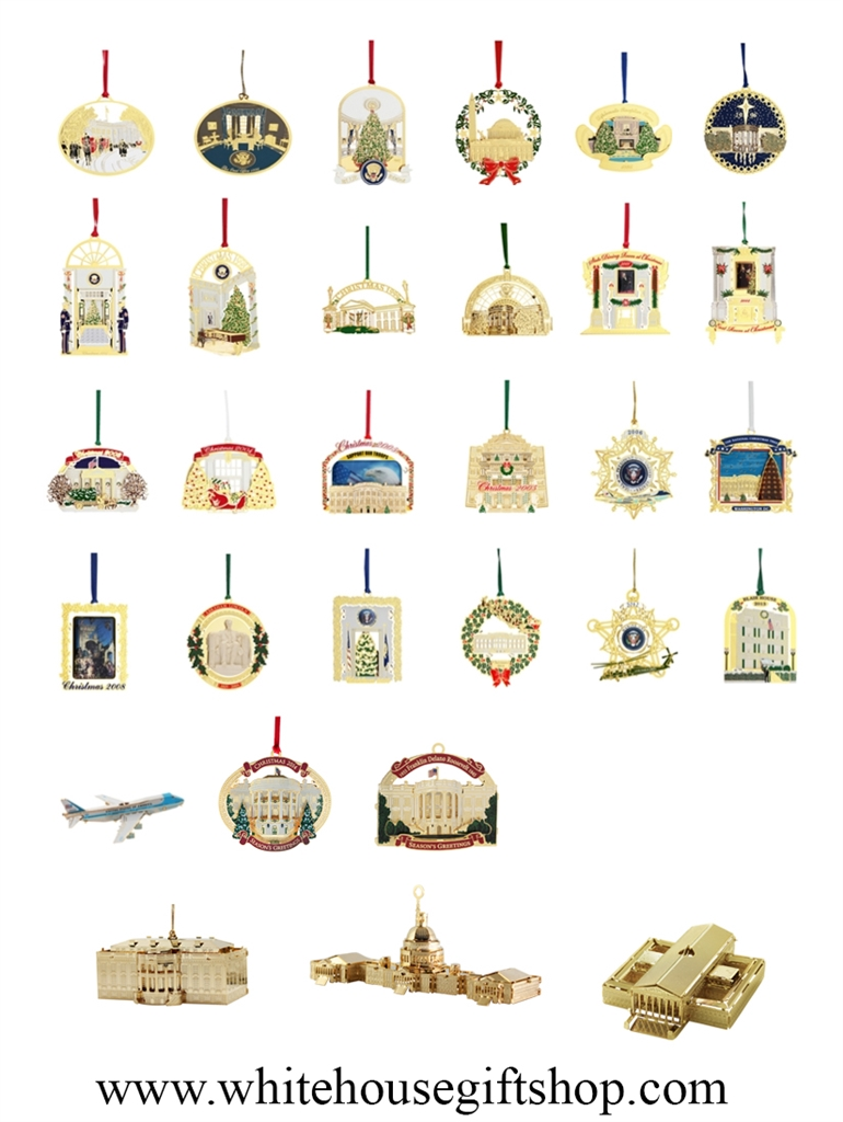The White House Ornaments Collection, 41 Commemoratives, Includes ...
