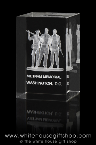 Vietnam Veterans Memorial Model in Crystal Optical Glass from the White House Gift Shop