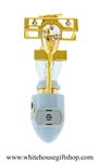 Gold Mini Aeroplane with Swarovski® Crystals