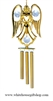 Crystal Gold Angel Holding a Heart chime Ornament