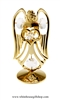 Gold Guardian Angel Birthstone Collection: April with Swarovski® Crystals