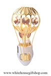 Gold Hot Air Balloon Nightlight with Swarovski® Crystals