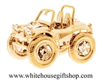 Gold Beach Cruiser Table Top Display with Swarovski® Crystals