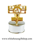 Gold Biplane Jewelry Box with Swarovski® Crystals
