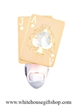 Gold Black Jack nightlight with Swarovski® Crystals