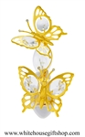 Gold Mini Butterfly Duo with Swarovski® Crystals