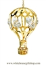 Gold Classic Hot Air Balloon Ornament