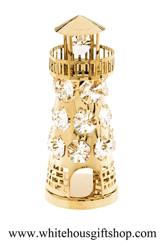 Gold Classic Lighthouse Ornament
