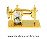 Gold Classic Sewing Machine Desk Model