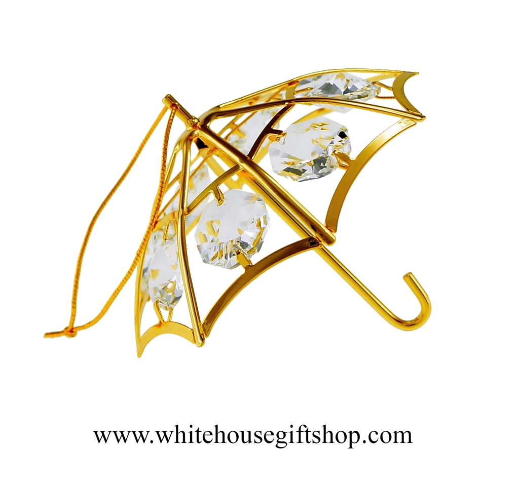 White house christmas ornaments by year - Gold Classic Umbrella Ornament