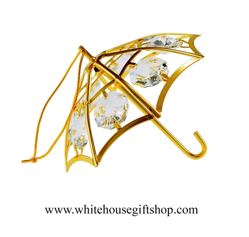 Gold Classic Umbrella Ornament