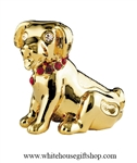 Gold Chinese Zodiac Year of the Dog Table Top Display with Ruby Red Swarovski® Crystals