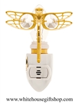 Gold Mini Dragonfly Nightlight with Swarovski® Crystals