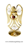 Gold Guardian Angel Birthstone Collection: February with Deep Amethyst Colored & Clear Swarovski® Crystals