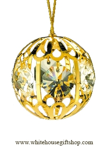 Gold Filigree Ball Ornament