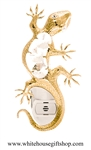 Gold Gecko Nightlight with Swarovski® Crystals