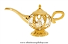 Gold Magical Genie Lamp Ornament with Swarovski® Crystals