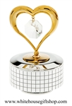 Gold Heart & Crystal Music Box with Swarovski® Crystals