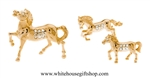 Gold Horse Family Table Top Collection with Swarovski® Crystals